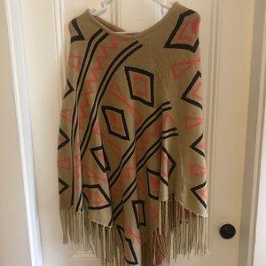 Nordstrom Aztec design shawl!